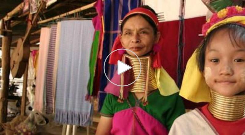 النساء الزرافات في قبيلة كايان بتايلاند