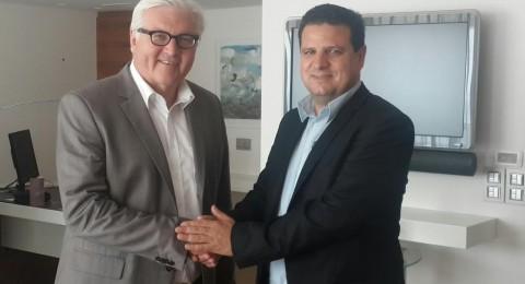 النائب ايمن عودة يلتقي وزير الخارجية الالماني شتاينماير