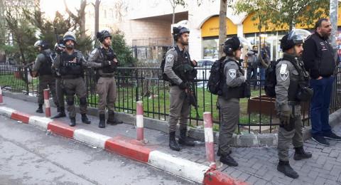 إصابة 5 فلسطينيين في قمع الشرطة الاسرائيلية تظاهرة بالقدس