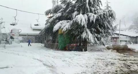 حالة الطقس: منخفض جوي وكتلة هوائية باردة في البلاد وثلوج كثيفة في جبل الشيخ