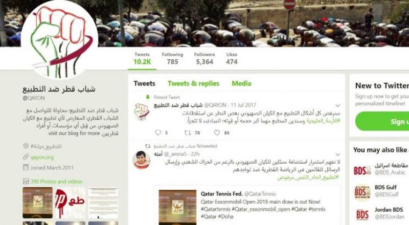"""قطريون يرفضون تطبيع """"اتحاد التنس″"""
