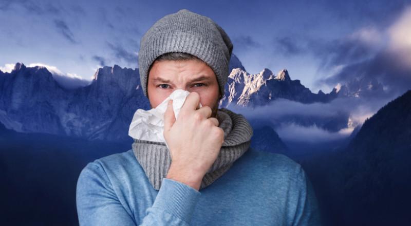 لماذا يسيل الأنف أثناء البرد؟