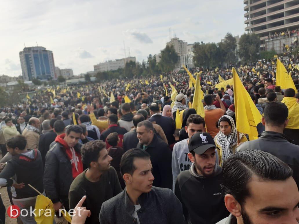مهرجان إحياء ذكرى انطلاقة الثورة وحركة فتح وسط مدينة غزة