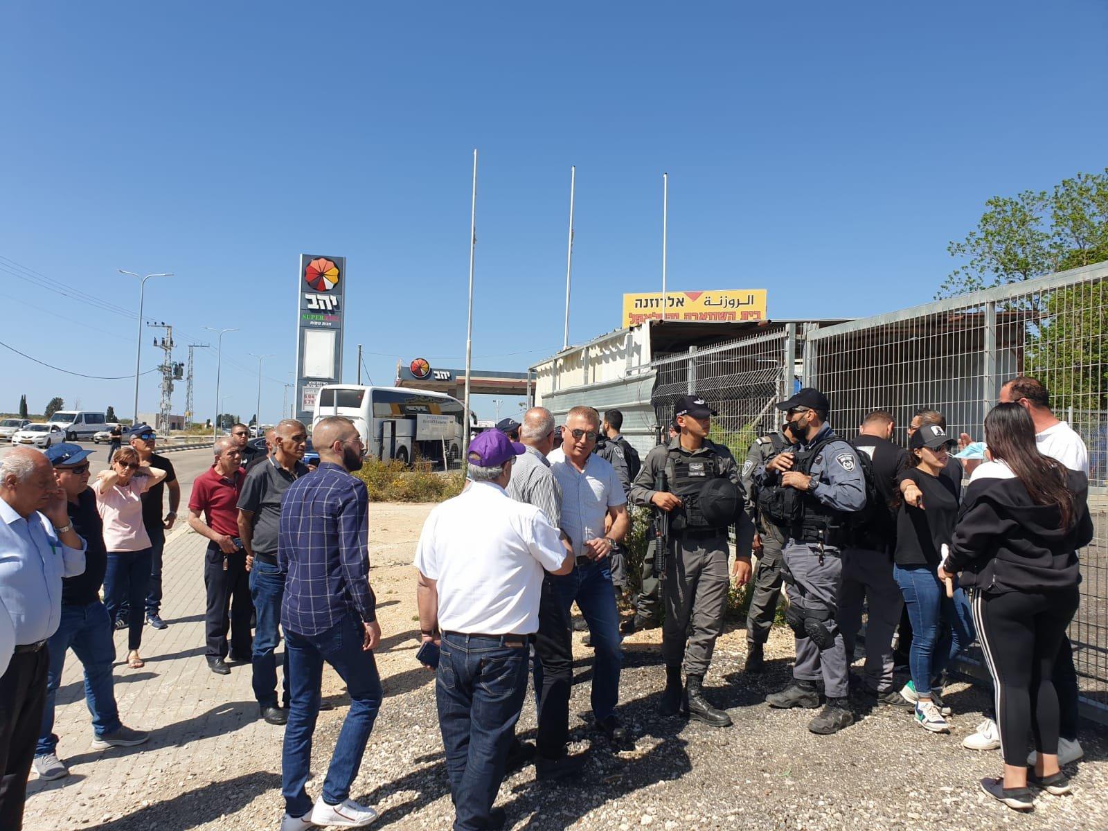اعتقالات في مظاهرة ضد مصادرة اراضي في الجديدة- المكر-2