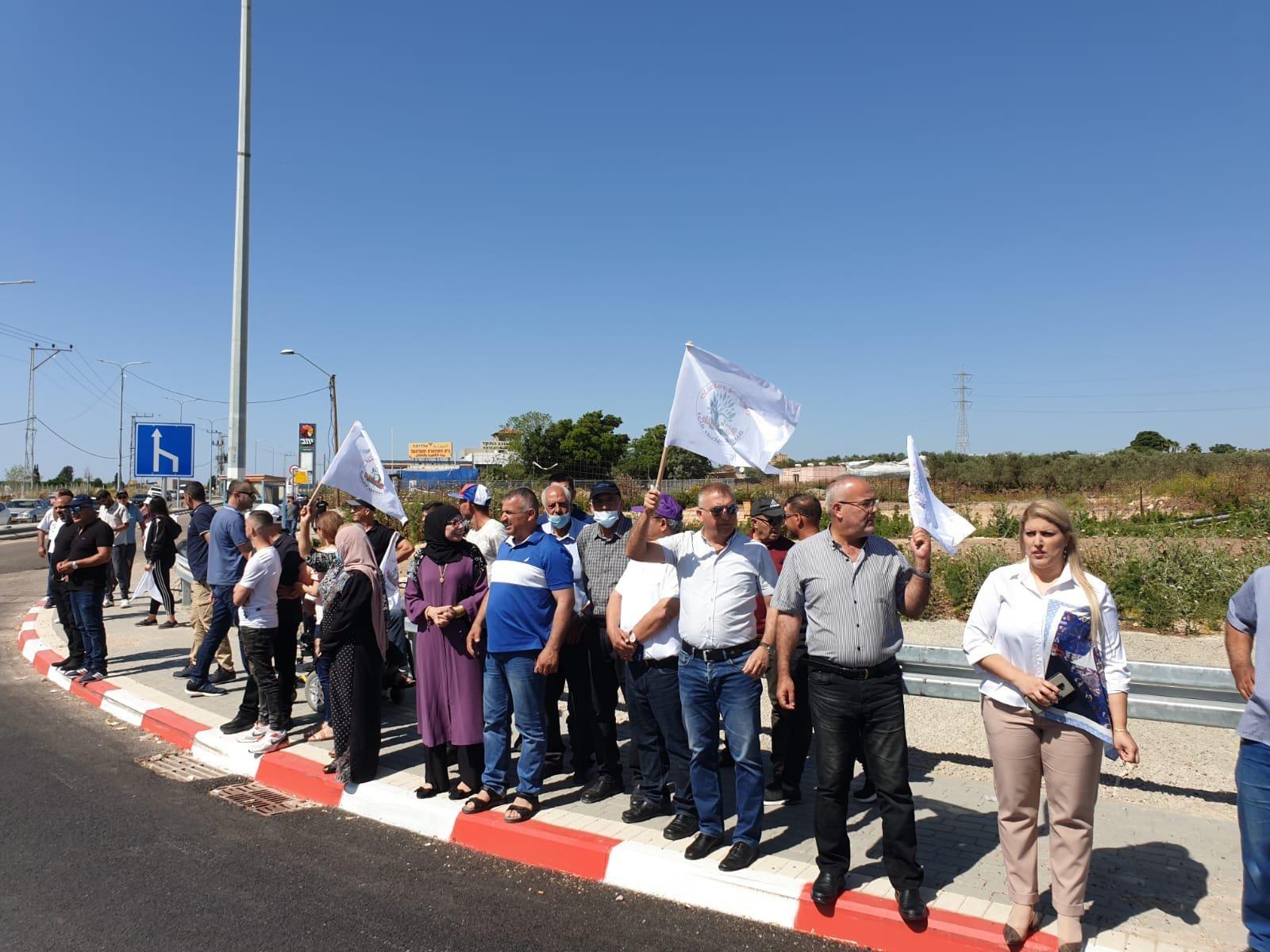 اعتقالات في مظاهرة ضد مصادرة اراضي في الجديدة- المكر-3