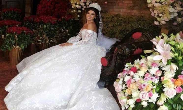 ربيع جميل يدخل القفص الذهبي والعروس تسرق الأضواء- (صور)