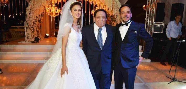 عادل إمام يحتفل بزفاف نجل شقيقته بمشاركة كبار نجوم الفن