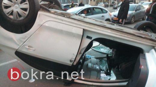 سخنين: اصابة خطيرة و4 اصابات اخرى في حادث انقلاب سيارة -2