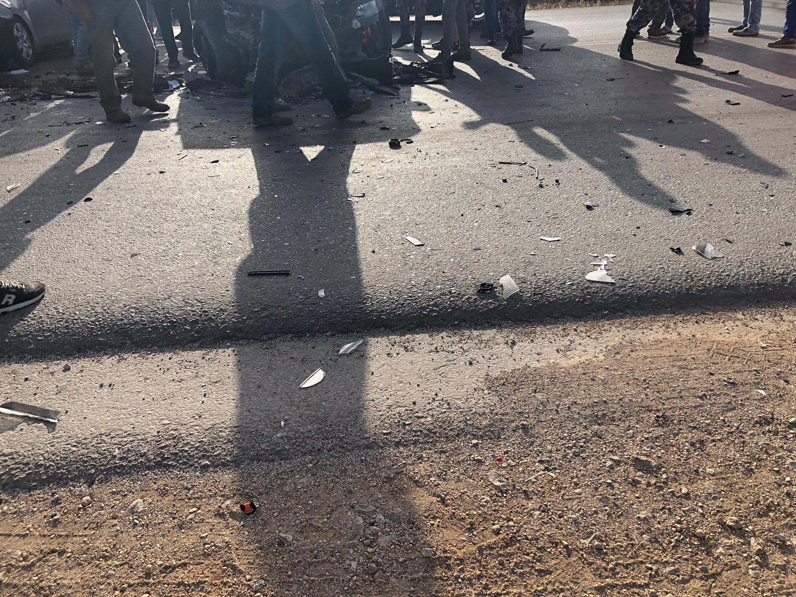 اصابة اربعة طلاب في حادث قرب جامعة جنين الامريكيّة