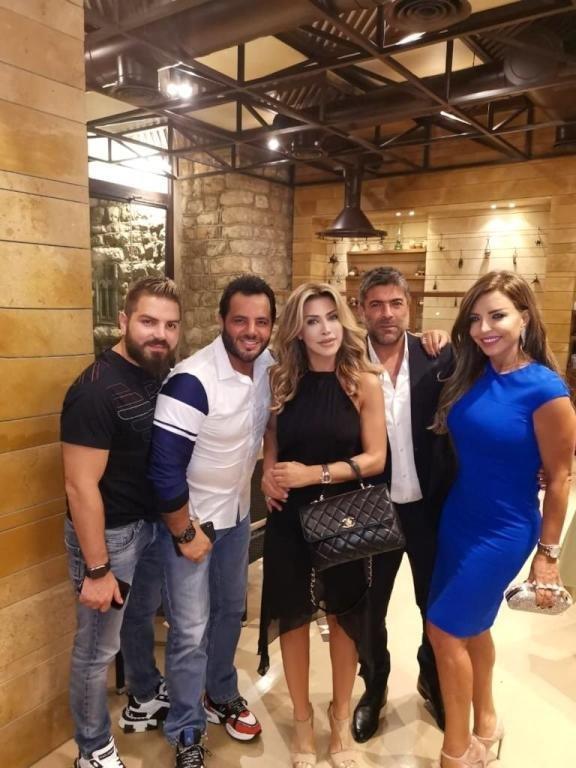 نوال الزغبي تحتفل ميلادها مع وائل كفوري