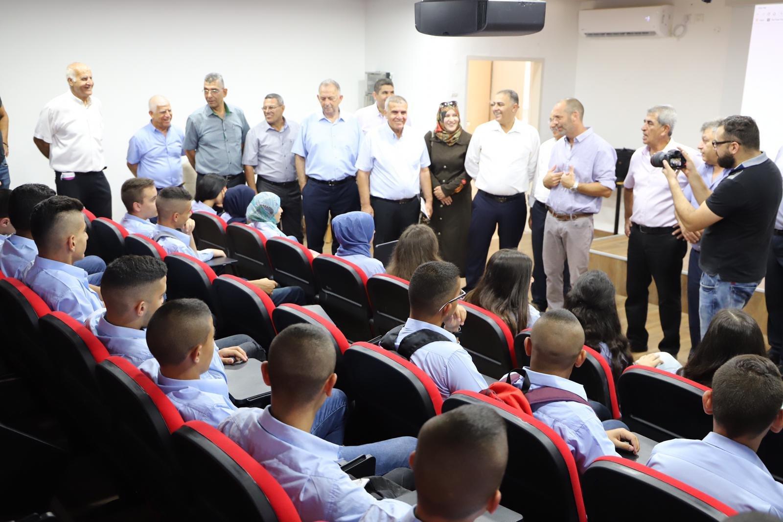 د. ساعر هرئيل يفتتح العام الدّراسي في المجتمع العربي في كفر قرع