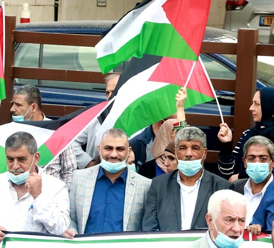 مسيرة تنديدا بإعلان بلفور المشؤوم ونصرة للأسرى في رام الله-3