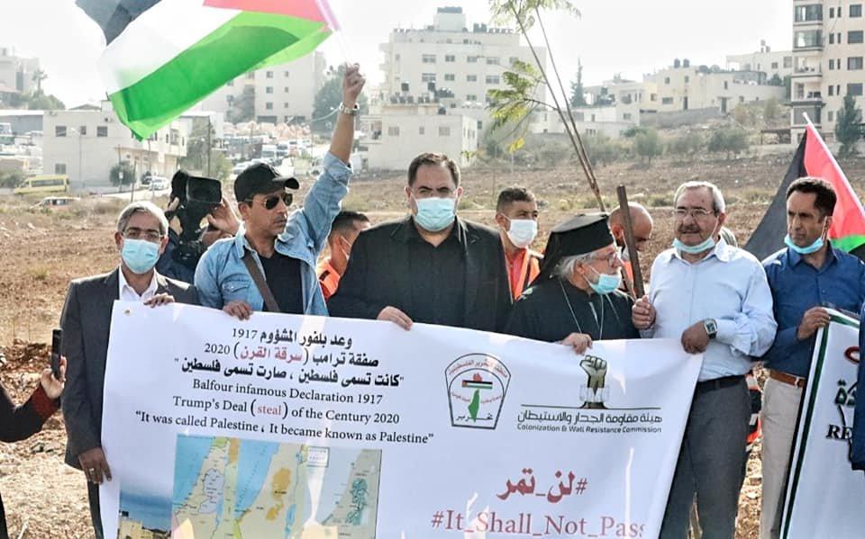 مسيرة تنديدا بإعلان بلفور المشؤوم ونصرة للأسرى في رام الله-8