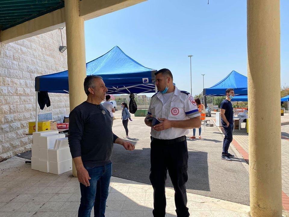 رئيس مجلس اكسال المحلي محمد شلبي: تم اجراء ٢٣٠ فحص كورونا-3