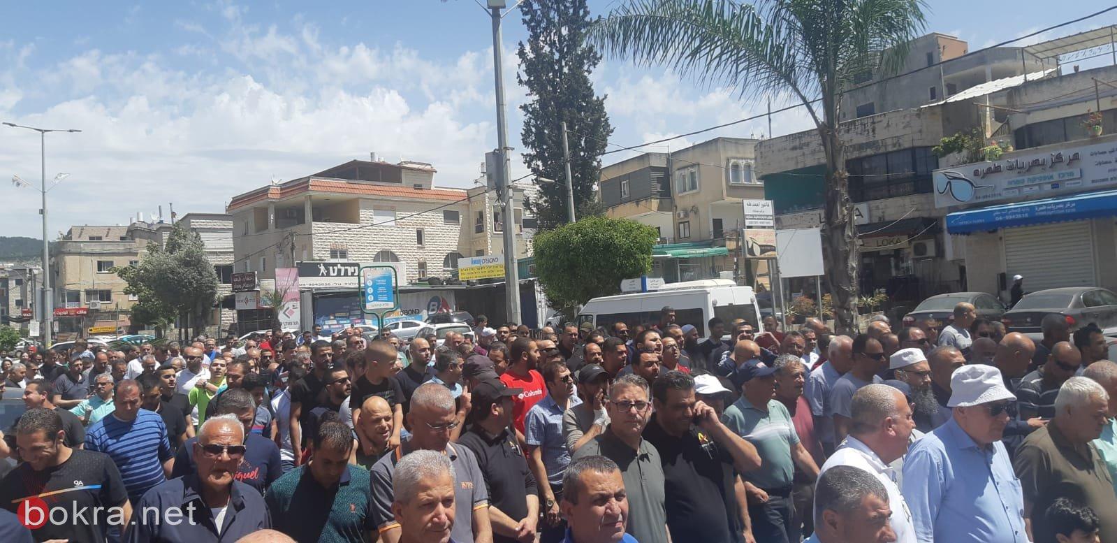 طمرة تنبذ العنف بمسيرة حملت عنوان وقفة بلد