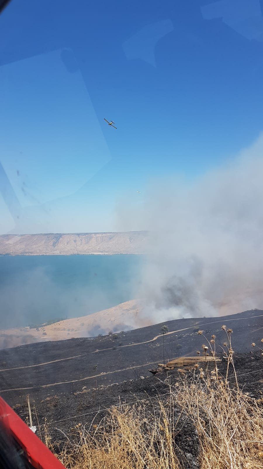 حريق هائل قرب طبريا