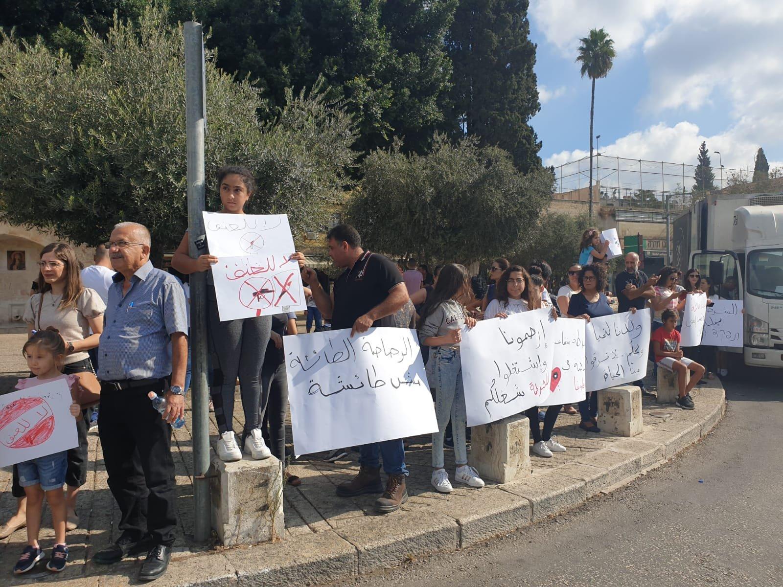 طلاب الناصرة يرفعون راية  أوقفوا العنف من حقنا العيش بأمان