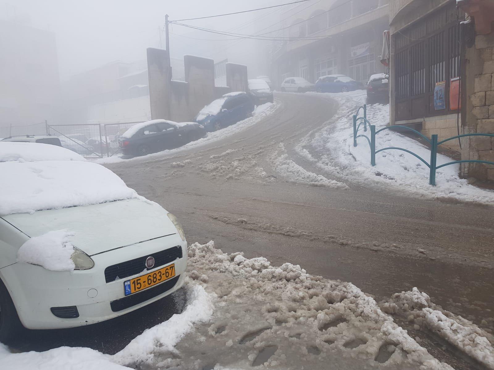 تساقط الثلوج على هضبة الجولان وقمم جبال الجليل الاعلى