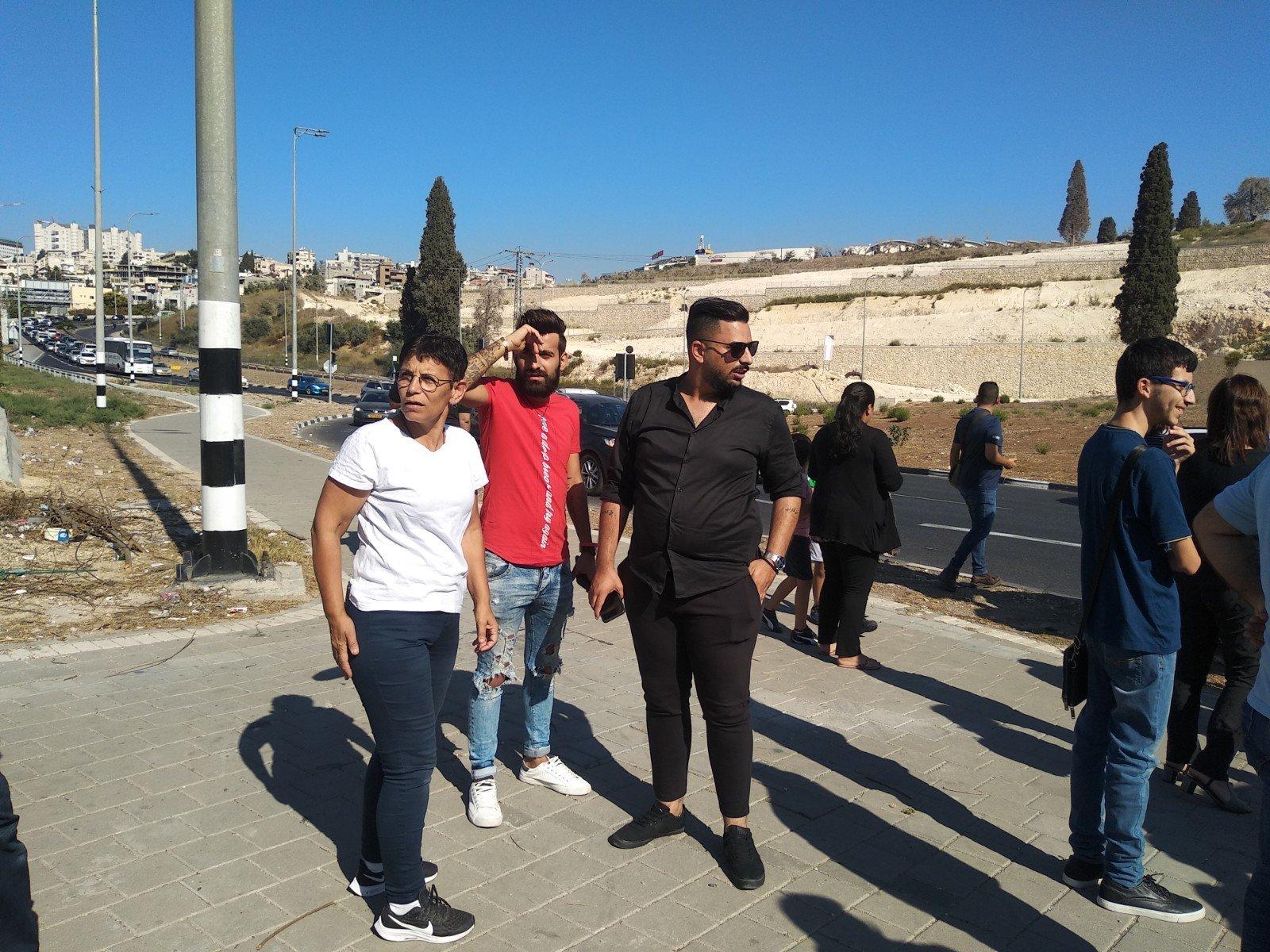 الناصرة تصرخ ضد العنف على دوار البيج -0