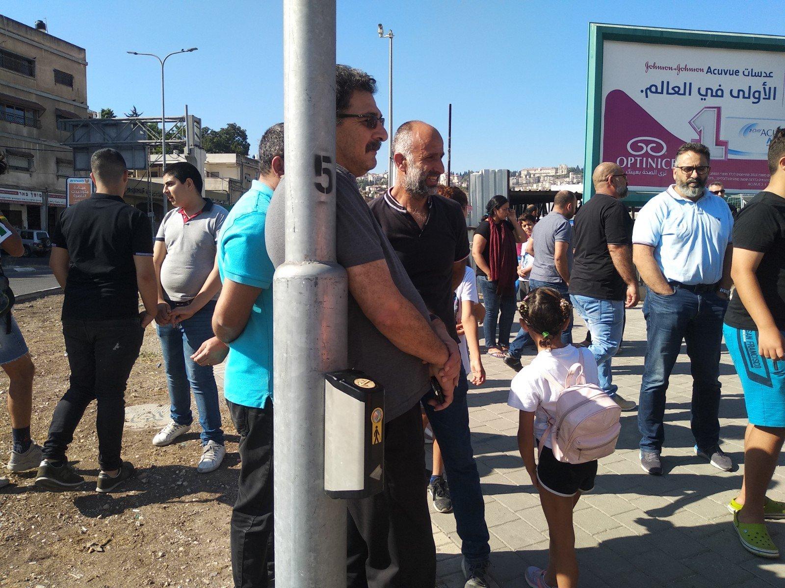 الناصرة تصرخ ضد العنف على دوار البيج -1
