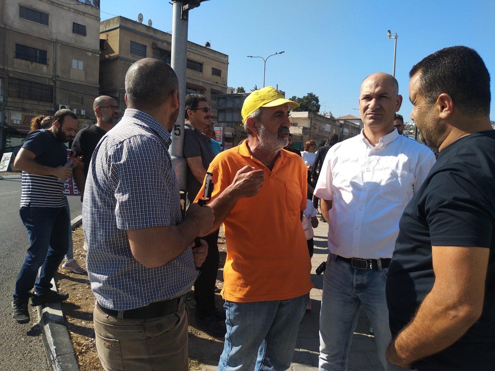 الناصرة تصرخ ضد العنف على دوار البيج -4