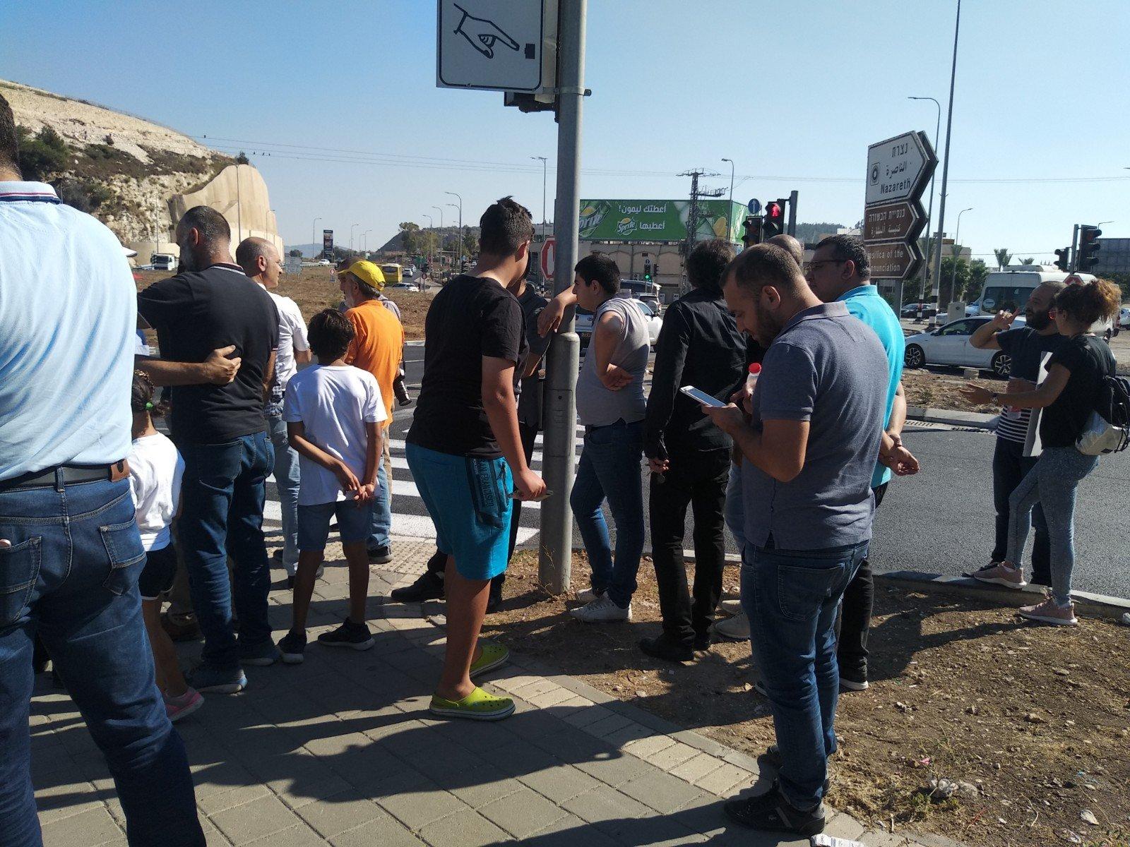 الناصرة تصرخ ضد العنف على دوار البيج -7