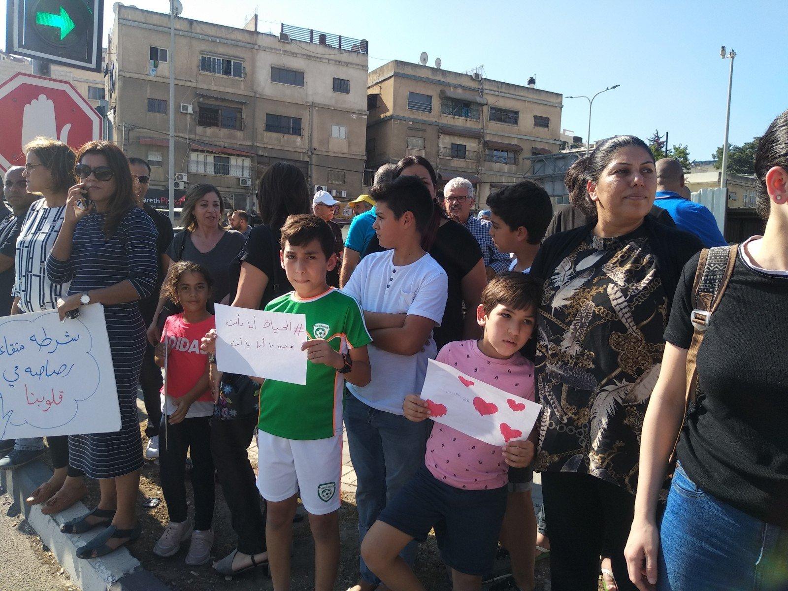 الناصرة تصرخ ضد العنف على دوار البيج -10