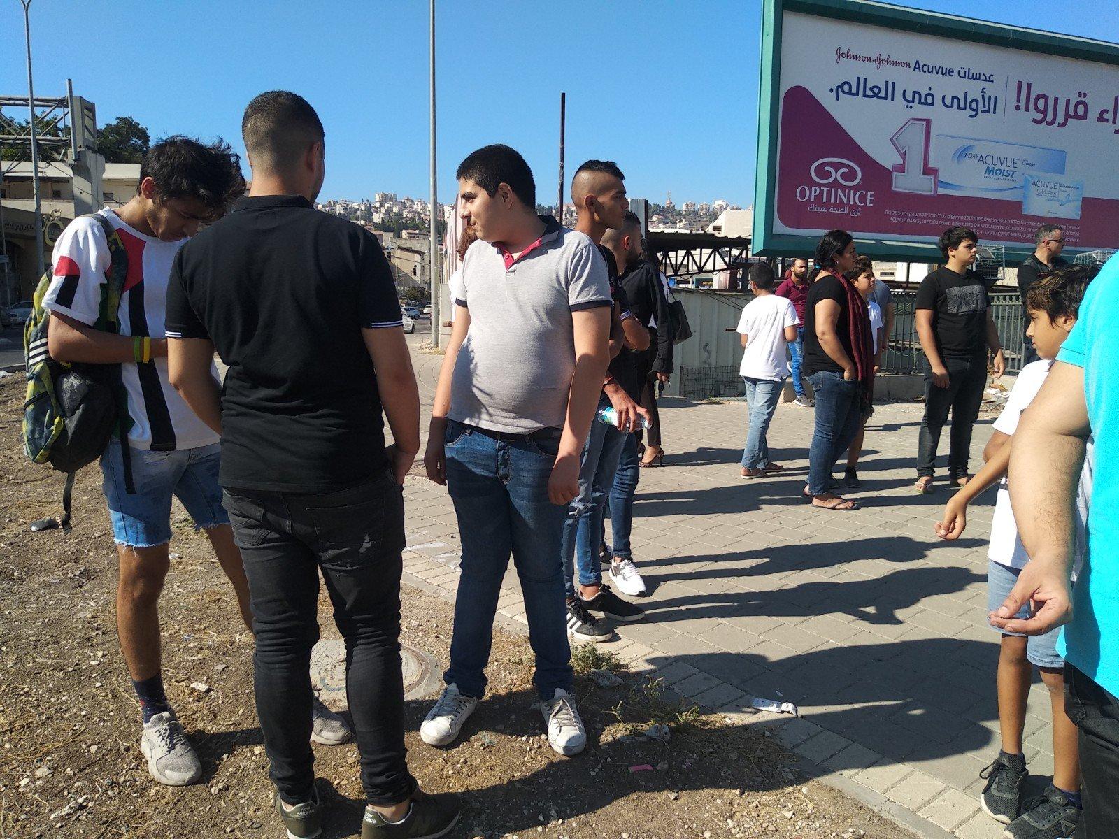 الناصرة تصرخ ضد العنف على دوار البيج -15