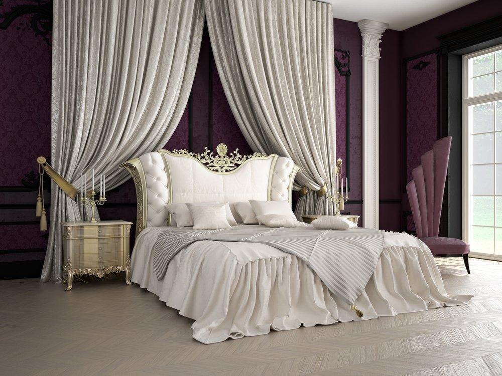 غرف نوم ملكية راقية