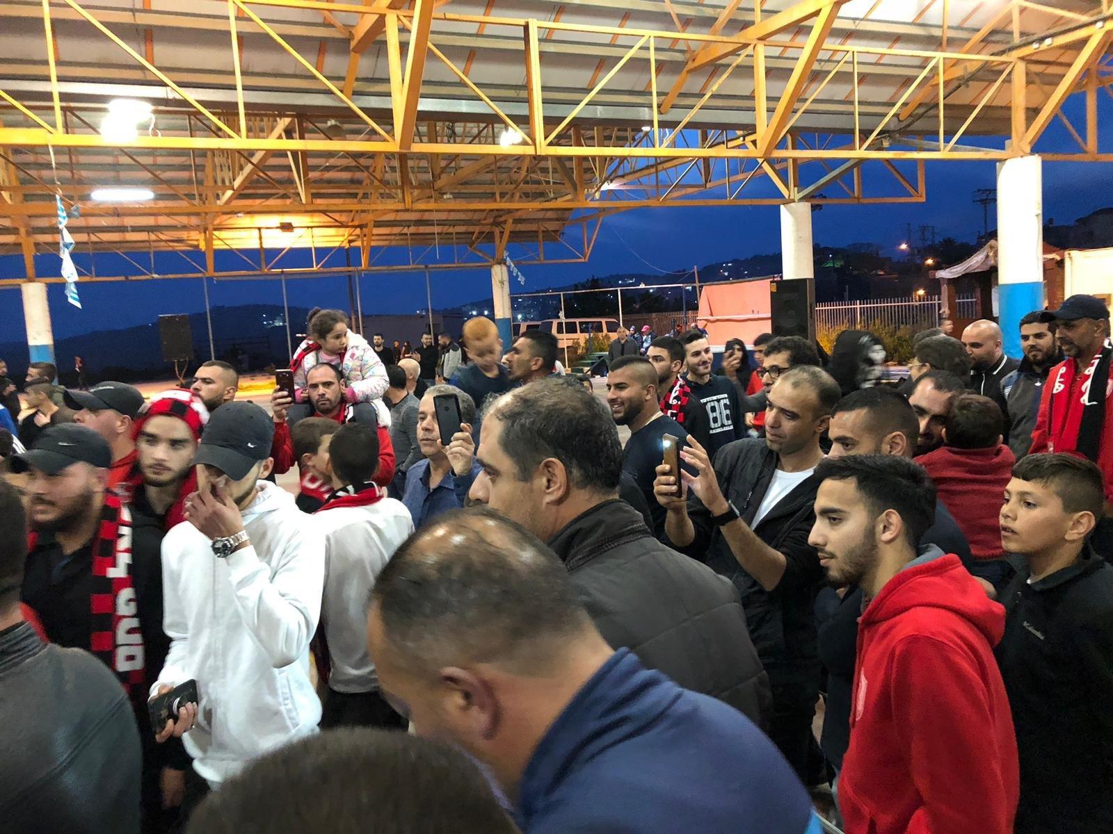 ام الفحم: احتفالات لصعود هبوعيل بمشاركة النائب جبارين ود. سمير محاميد