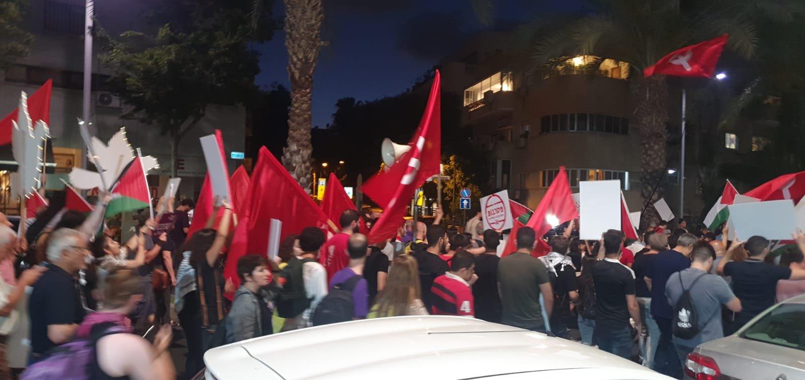تل ابيب: انطلاق المظاهرة العربية- اليهودية بذكرى حرب ااـ67-2