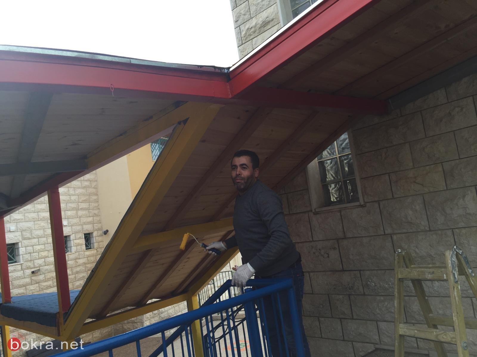 سخنين: يوم عمل تطوعي في مدرسة الصفا