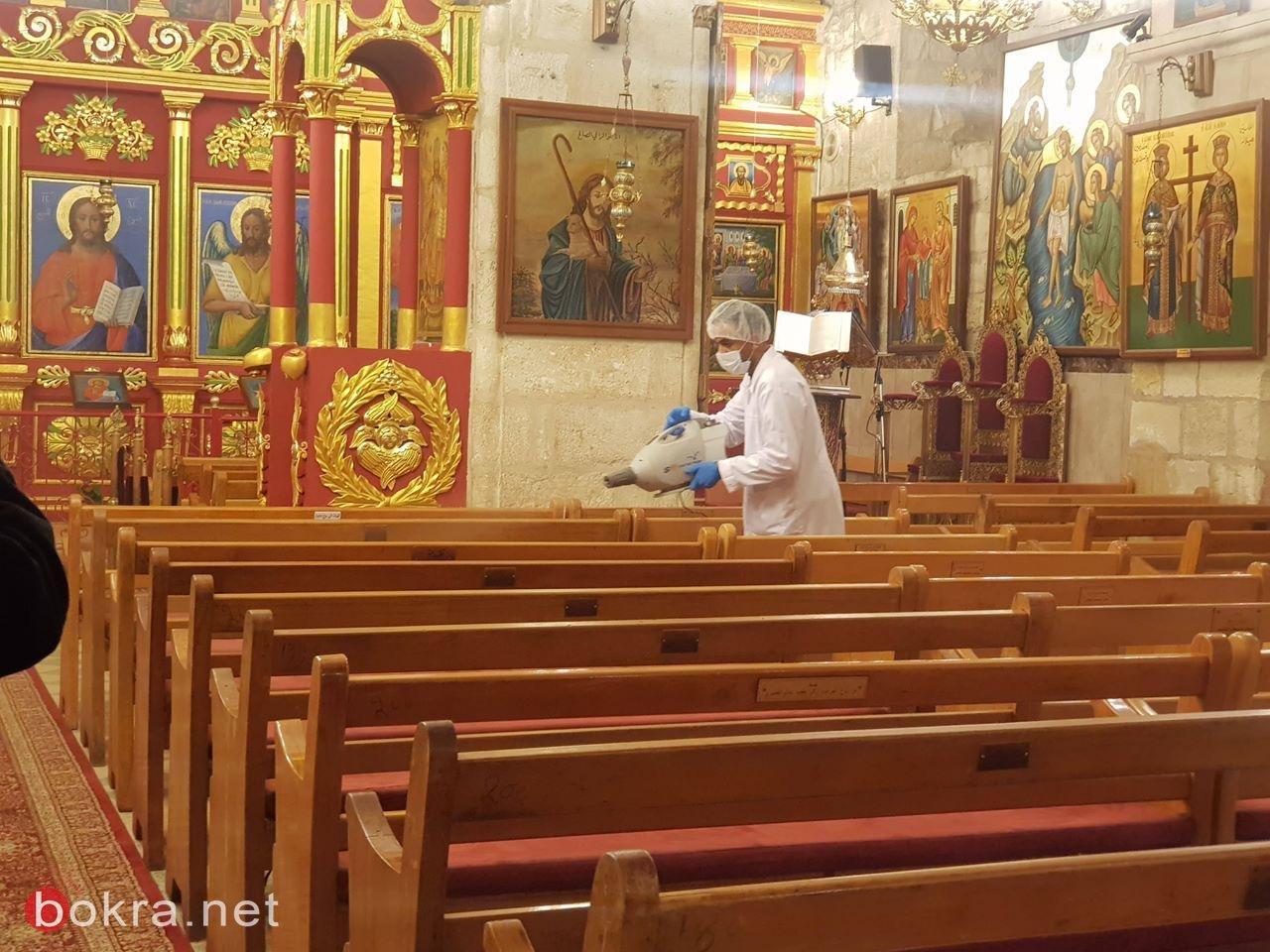بلدية رام الله تباشر بتعقيم المساجد والكنائس وبيوت المسنين