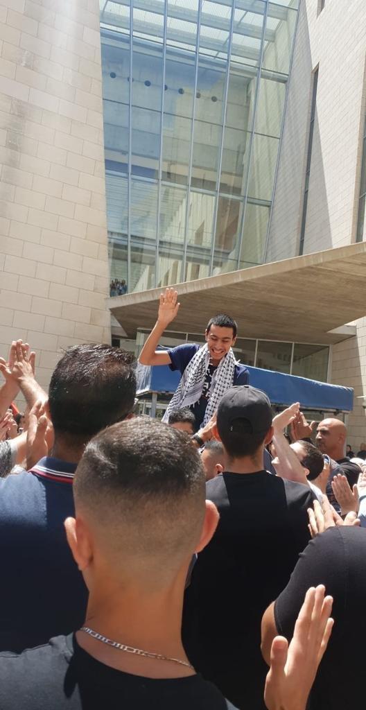محكمة الصلح في حيفا تُطلق سراح الشاب احمد كيوان صديق الشهيد-2