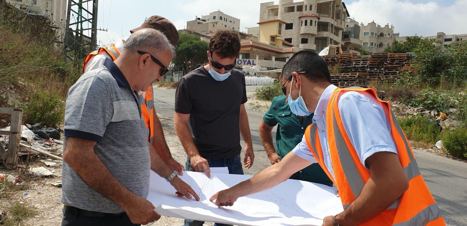 جولة في شارع الناصرة عيلوط لفحص التربة والبدء بالعمل