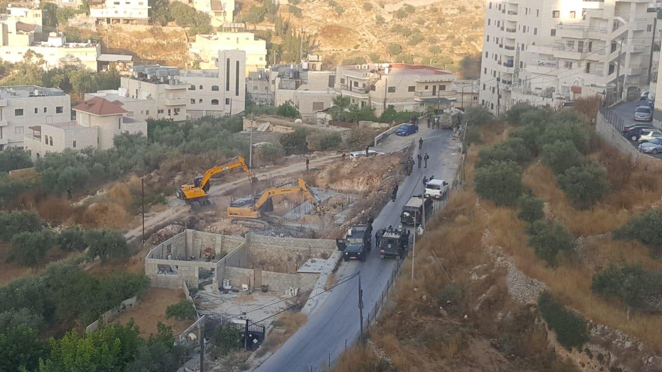 حملة هدم إسرائيلية في القدس بحجة عدم الترخيص