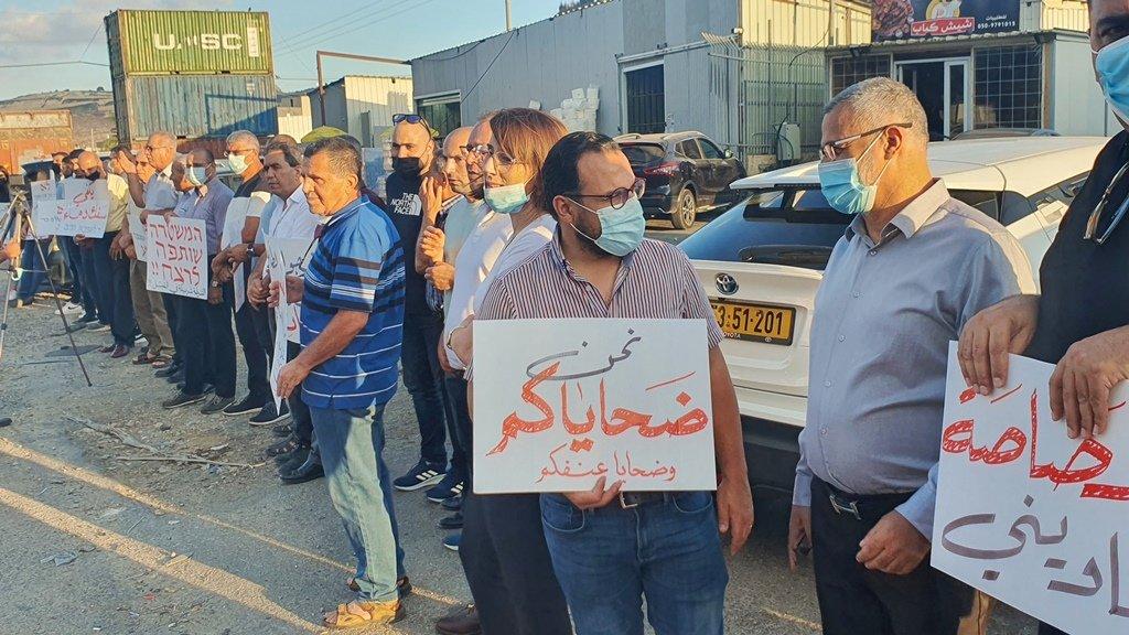 مجدالكروم: العشرات يتظاهرون منددين بالعنف-0