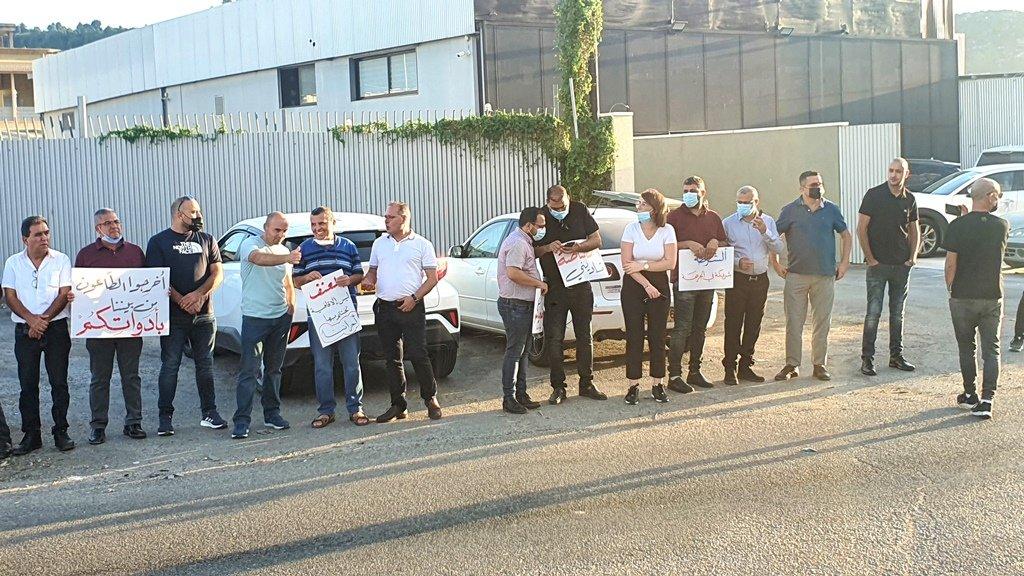 مجدالكروم: العشرات يتظاهرون منددين بالعنف-2