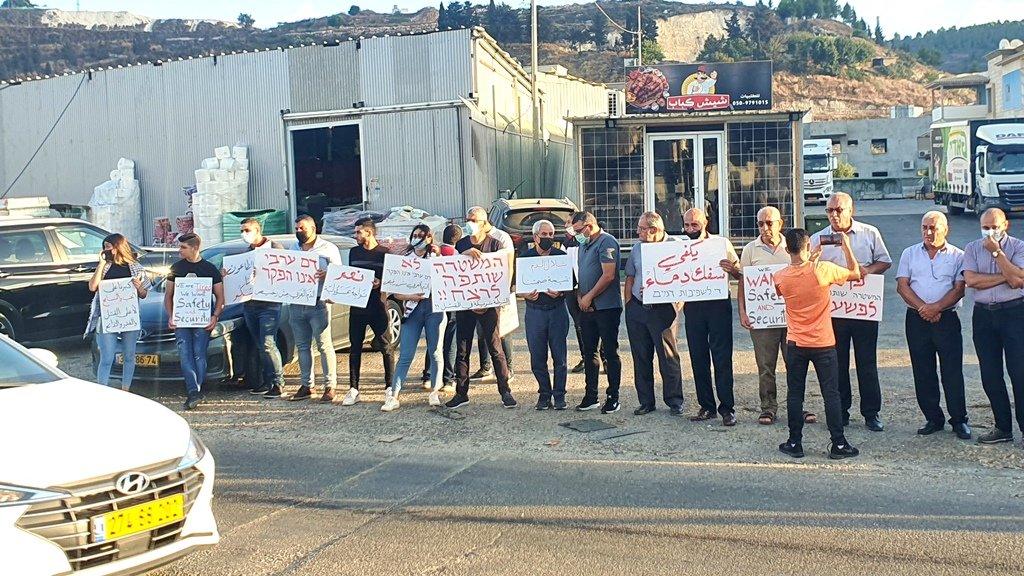 مجدالكروم: العشرات يتظاهرون منددين بالعنف-4