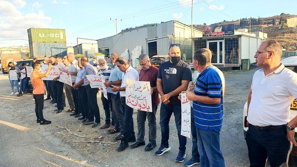 مجدالكروم: العشرات يتظاهرون منددين بالعنف-5