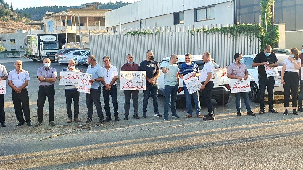 مجدالكروم: العشرات يتظاهرون منددين بالعنف-6