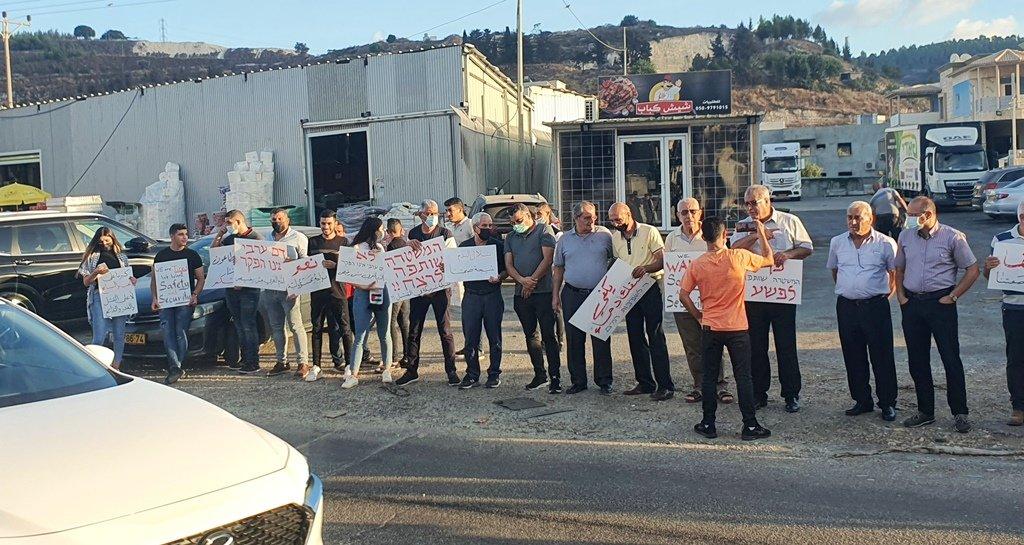 مجدالكروم: العشرات يتظاهرون منددين بالعنف-8