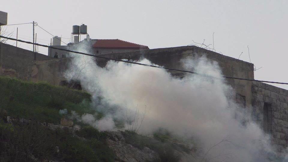 29 إصابة خلال مواجهات مع قوات الاحتلال في بلدة حلحول-4