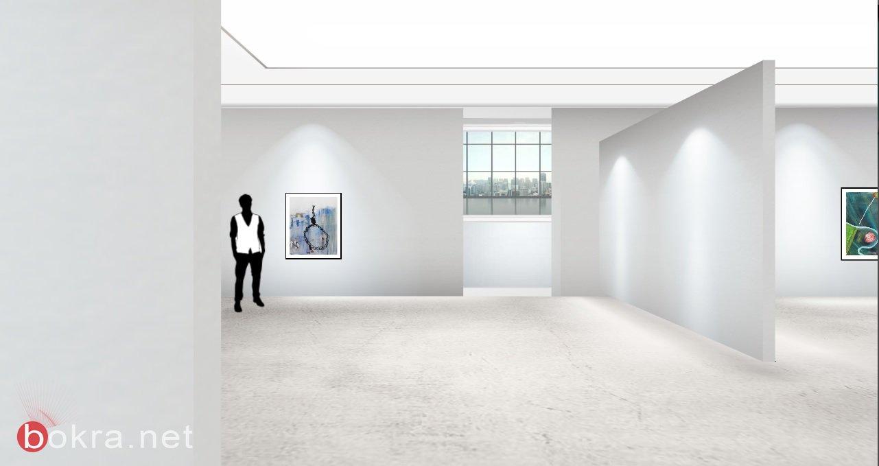 """افتتاح المعرض الافتراضي """" وطن """" للفنانة التشكيلية رشا-1"""