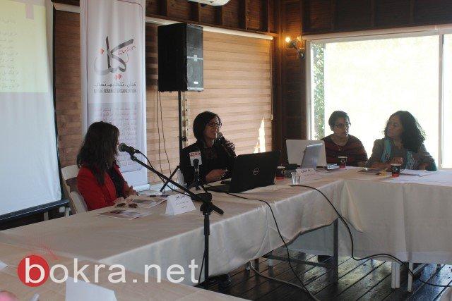 الناصرة: خلال مؤتمر صحفي حول اقصاء النساء من السلطات المحلية- الفساد والقوة عقبات امام ترشح النساء في السلطة المحلية-7
