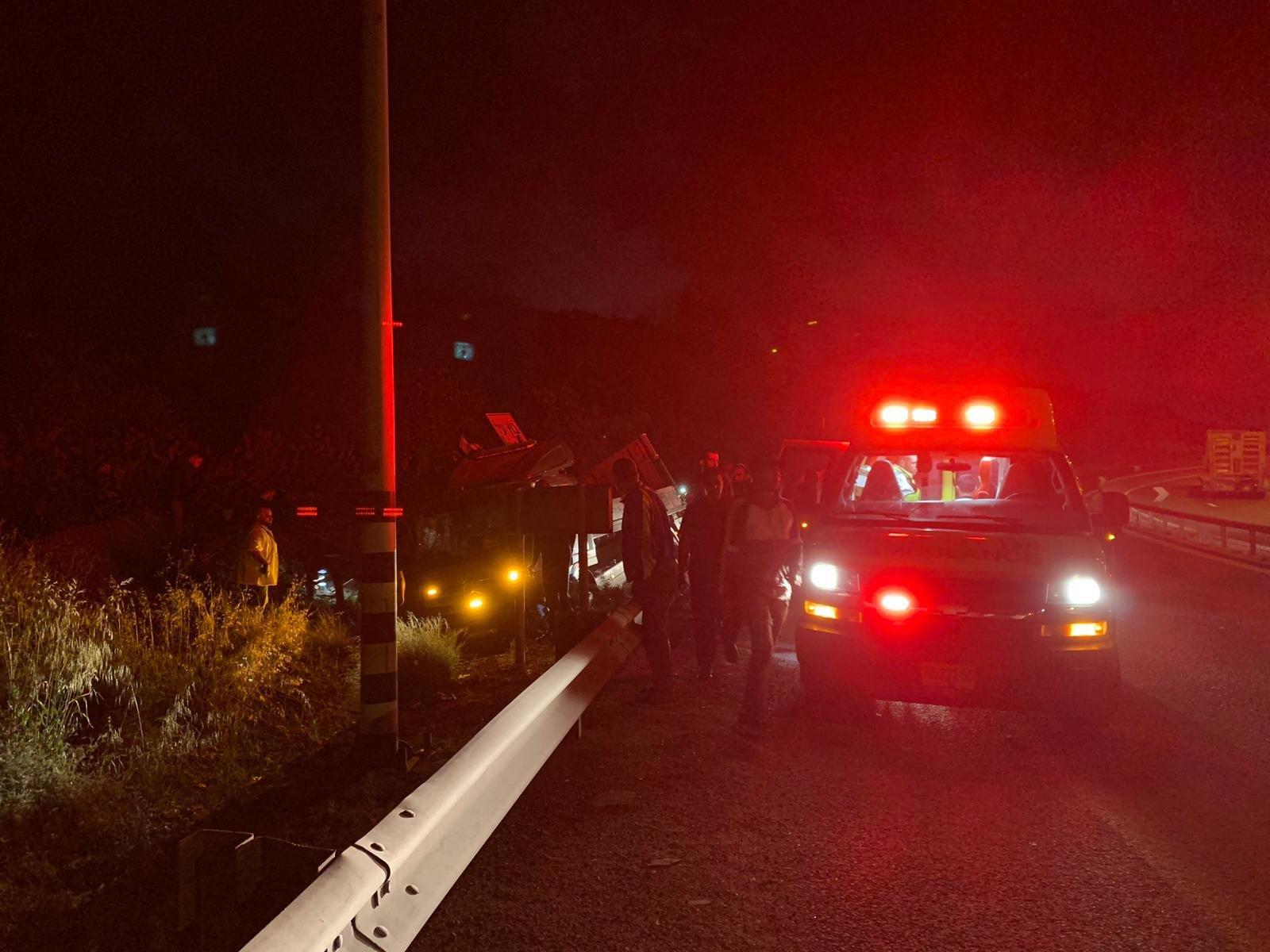 إصابتان بحادث طرق قرب مجيدّو