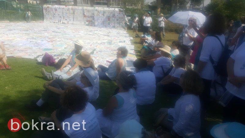 """""""نساء يصنعن السلام"""" تنظم مسيرة امام الكنيست وتدعو للتوصل الى اتفاق سياسي-5"""