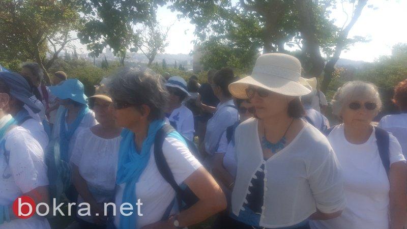 """""""نساء يصنعن السلام"""" تنظم مسيرة امام الكنيست وتدعو للتوصل الى اتفاق سياسي-9"""
