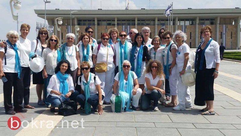 """""""نساء يصنعن السلام"""" تنظم مسيرة امام الكنيست وتدعو للتوصل الى اتفاق سياسي-20"""