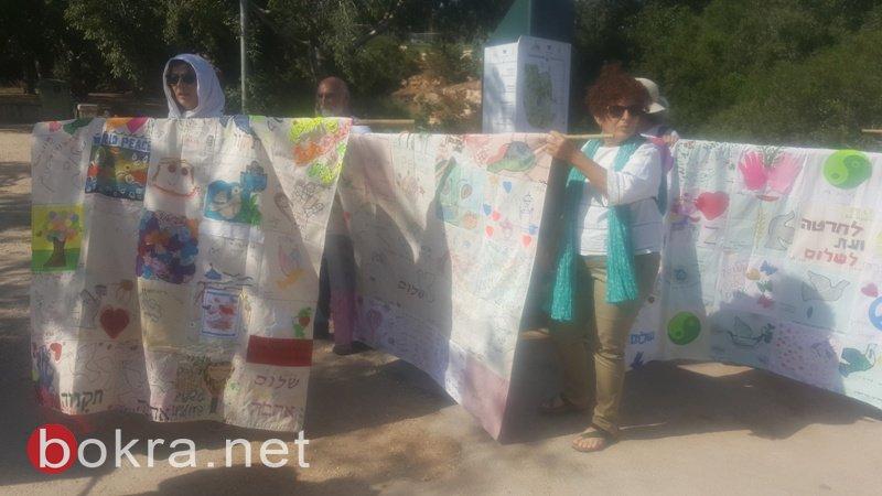 """""""نساء يصنعن السلام"""" تنظم مسيرة امام الكنيست وتدعو للتوصل الى اتفاق سياسي-27"""